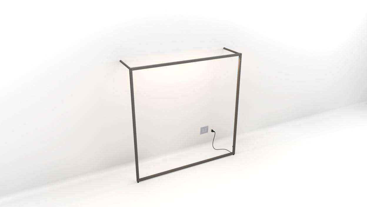 "TQ Diffused Light Wall Frame W-Spacer 72""x72"" - ALU"