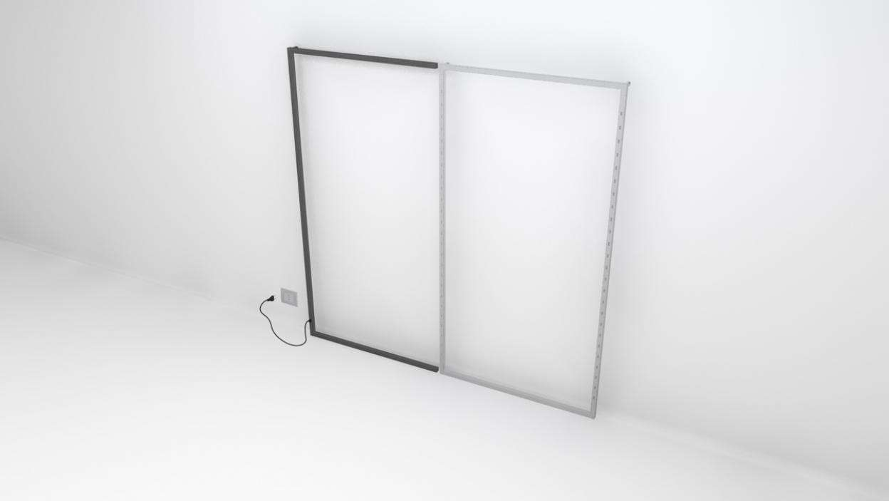 "TQ Powered Wall Frame 48""X94"" Extension - ALU"