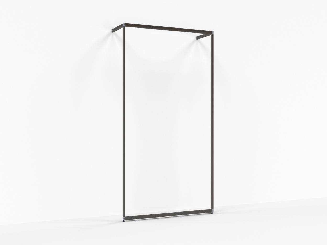 Slash Illuminated Vertical Wall Mounted Unit 48""