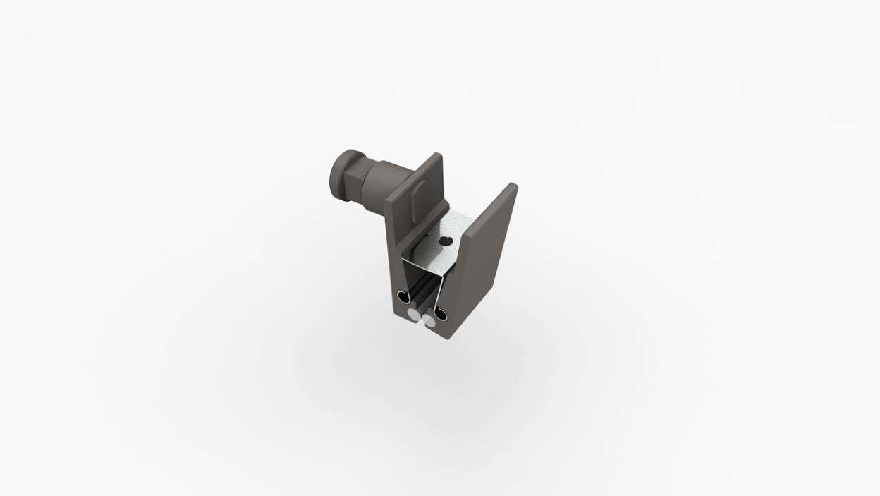 "Graphic Clip 1"" with Stud - ALU"