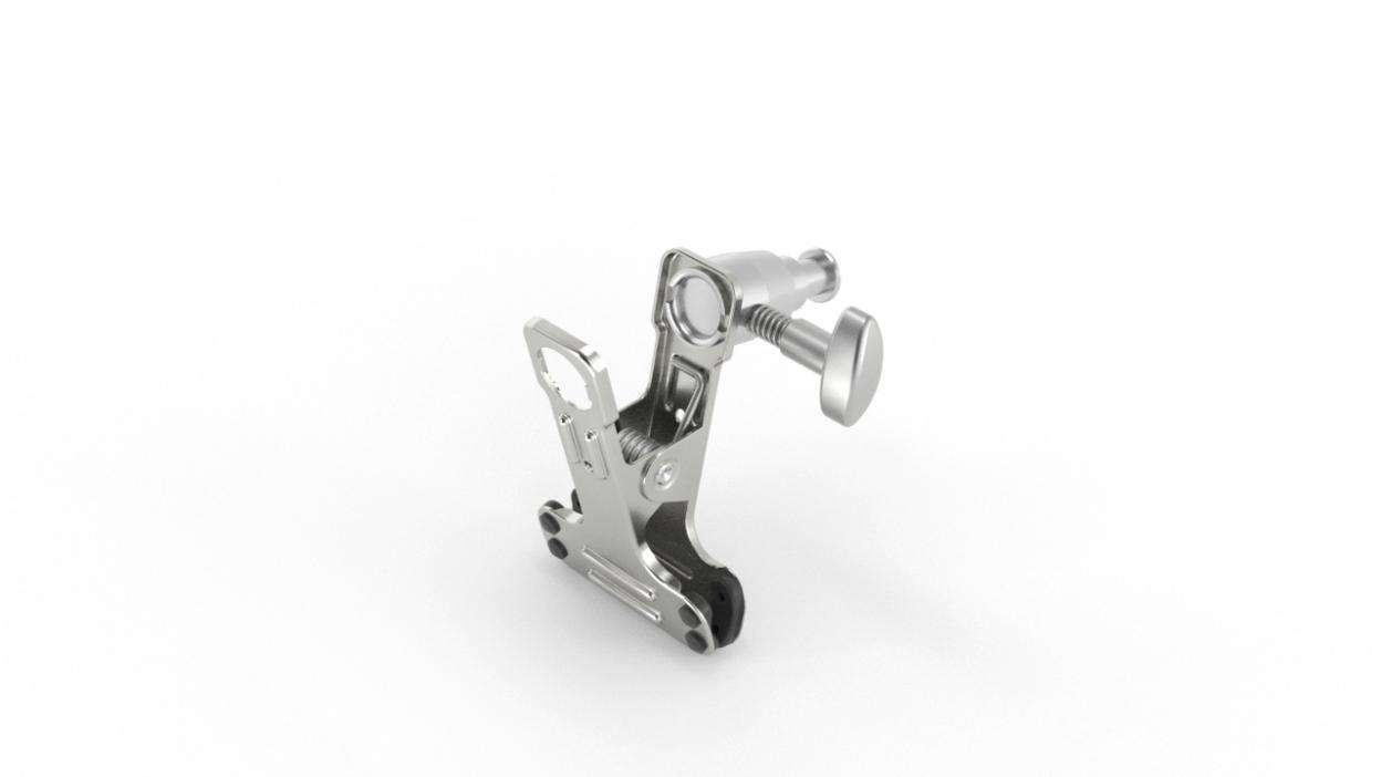 Mini Clip Clamp with Stud - ALU