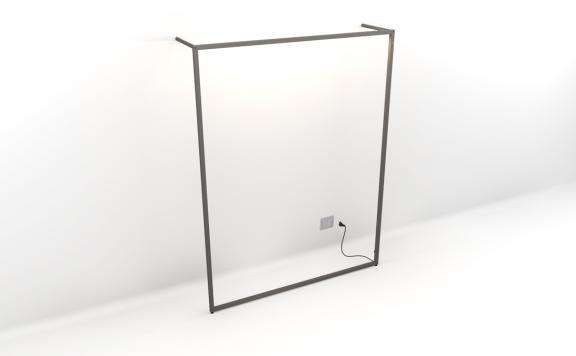 "TQ Diffused Light Wall Frame W-Spacer 72""x94"" - ALU"