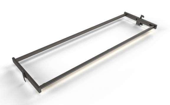 SLASH ILLUMINATED SHELF HOLDER 48""