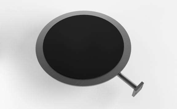 Rubber Surface Round Shelf 13""
