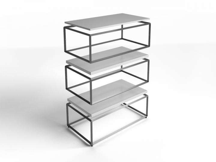 "Cage In-Between Shelf 51""X27"" - ALU"