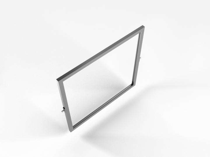 "Acrobat Slim Signholder / Shelf 15"" Square"